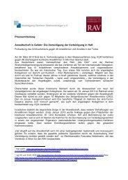 Pressemitteilung Anwaltschaft in Gefahr: Die Verteidigung der ... - RAV
