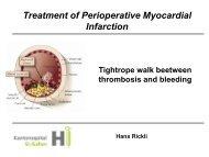 Treatment of perioperative myocardial infarction - European Society ...