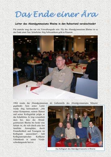 Verabschiedung Jörg Schwamborn - Abendgymnasium