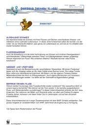 Befreie deinen Fluss! - WWF Schweiz