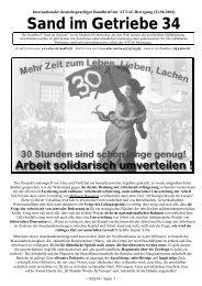 Sand im Getriebe 34 - Attac Berlin
