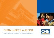 CHINA MEETS AUSTRIA - B2B Service for the tourism industry