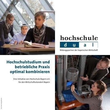 Hochschulstudium und betriebliche Praxis ... - Hochschule dual