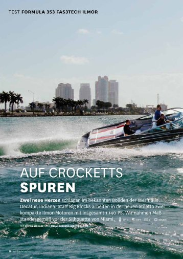 Auf CroCketts Spuren - Formula Boats