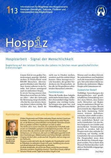 Infobrief 1/ 2013 - Hospizverein Kempten-Oberallgäu e.V.