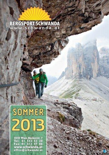 SOMMER - Bergsport Schwanda Wien
