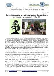 Pressemitteilung - Botanischer Garten und Botanisches Museum ...