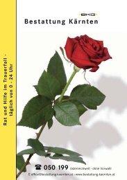 Ratgeber im Trauerfall - bei der Bestattung Kärnten