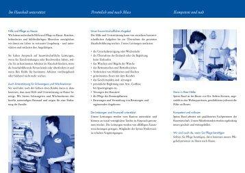 Spitex Basel Hauswirtschaft (Flyer)