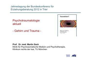 Prof.Dr.med. Martin Sack - Bundeskonferenz für Erziehungsberatung