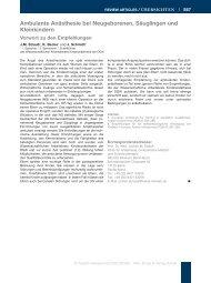 Empfehlungen zur ambulanten Anästhesie bei Neugeborenen ...