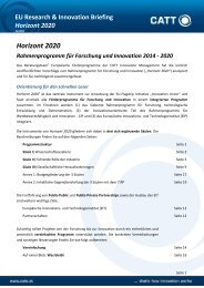 Horizont 2020 - CATT Innovation Management GmbH