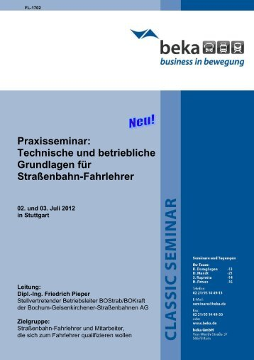 02. und 03. Juli 2012 in Stuttgart - Beka Online-Shop