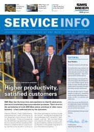 Higher productivity, satisfied customers - SMS Meer GmbH