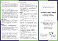 Arthrose und Sport - DGSP