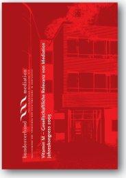 Inhaltsverzeichnis - Bundesverband Mediation eV