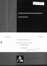 Januar1964 KFK 208 Institut fur Kernverfahrenstechnik ... - Bibliothek