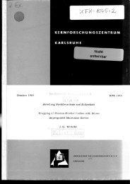 Oktober 1969 Abteilung Strahlenschutz und Sicherheit ... - Bibliothek