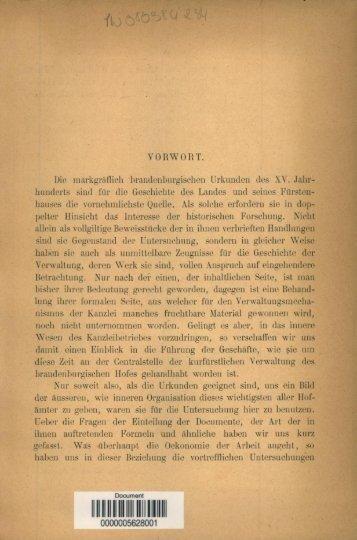 Die Brandenburgische Kanzlei und das Urkundenwesen wahrend ...