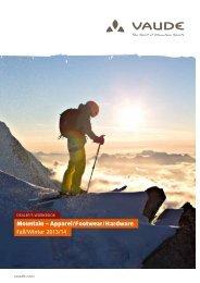 Mountain – Apparel/Footwear/Hardware Fall/Winter 2013/14 - vaude