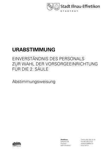 URABSTIMMUNG - Stadt Illnau-Effretikon
