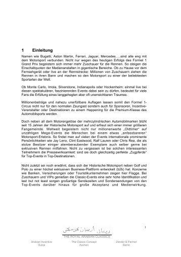 1 Einleitung - Zander & Partner Event-Marketing GmbH