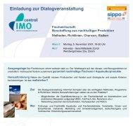 Einladung zur Dialogveranstaltung - IMO