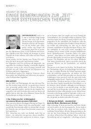 zeit - Lehranstalt für systemische Familientherapie