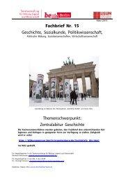 Fachbrief Nr. 15 - Geschichte, Sozialkunde, Politikwissenschaft ...