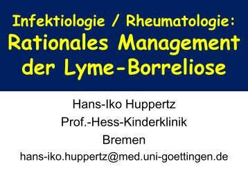 Rationales Management der Lyme-Borreliose