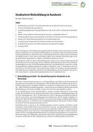 Strukturierte Weiterbildung im Handwerk - BiBB