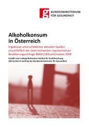 Alkoholkonsum in Österreich - Bundesministerium für Gesundheit