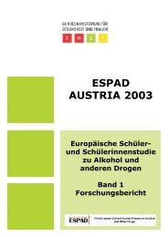 ESPAD AUSTRIA 2003 - Bundesministerium für Gesundheit