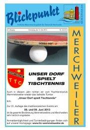 08. und 09. Juni 2013 - Gemeinde Merchweiler