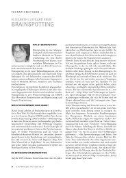 BRAINSPOTTING - Lehranstalt für systemische Familientherapie