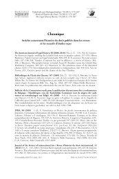 Articles concernant l'histoire du droit publiés dans les revues et les ...
