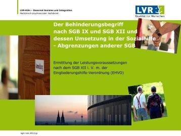 wb lb & ehv - Landschaftsverband Rheinland