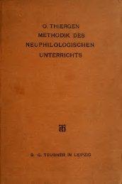 Methodik des neuphilologischen Unterrichts