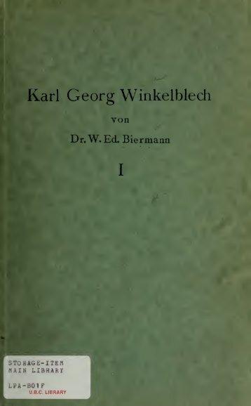 Karl Georg Winkelblech (Karl Marlo). Sein Leben und sein Werk