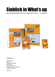 Einblick in What's up - Pro Juventute