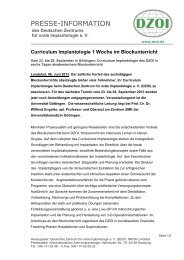 Curriculum Implantologie 1 Woche im Blockunterricht - Deutsches ...