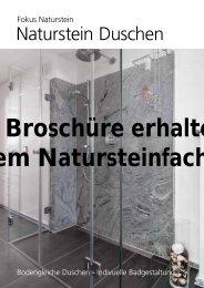 Naturstein Duschen - unaStone
