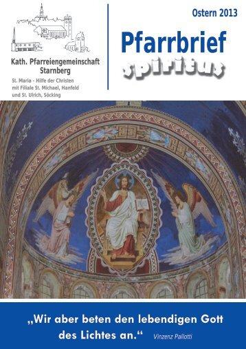Ostern 2013 - Pfarrei Starnberg