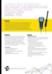 Model 7575 Q-TRAK Monitor A4 DE - TSI
