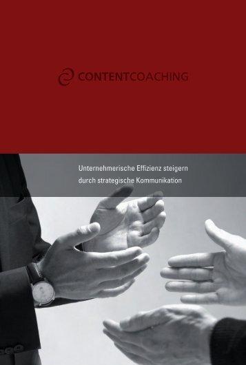 Imagebroschüre ContentCoaching GmbH