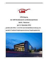 Offenlegungsbericht gem. SolvV und InstitutsVergV 2012 (pdf ... - LBS
