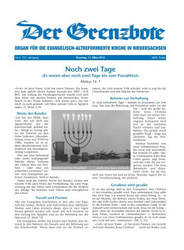 11. März 2012 - Die Evangelisch-altreformierte Kirche in ...