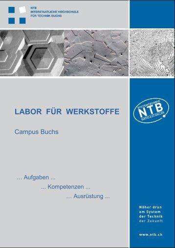 LABOR FÜR WERKSTOFFE - Ntb