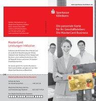 Die MasterCard Business - Sparkasse KölnBonn