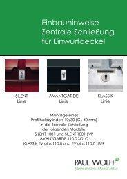 Einbauhinweise Zentrale Schließung für ... - Paul Wolff GmbH
